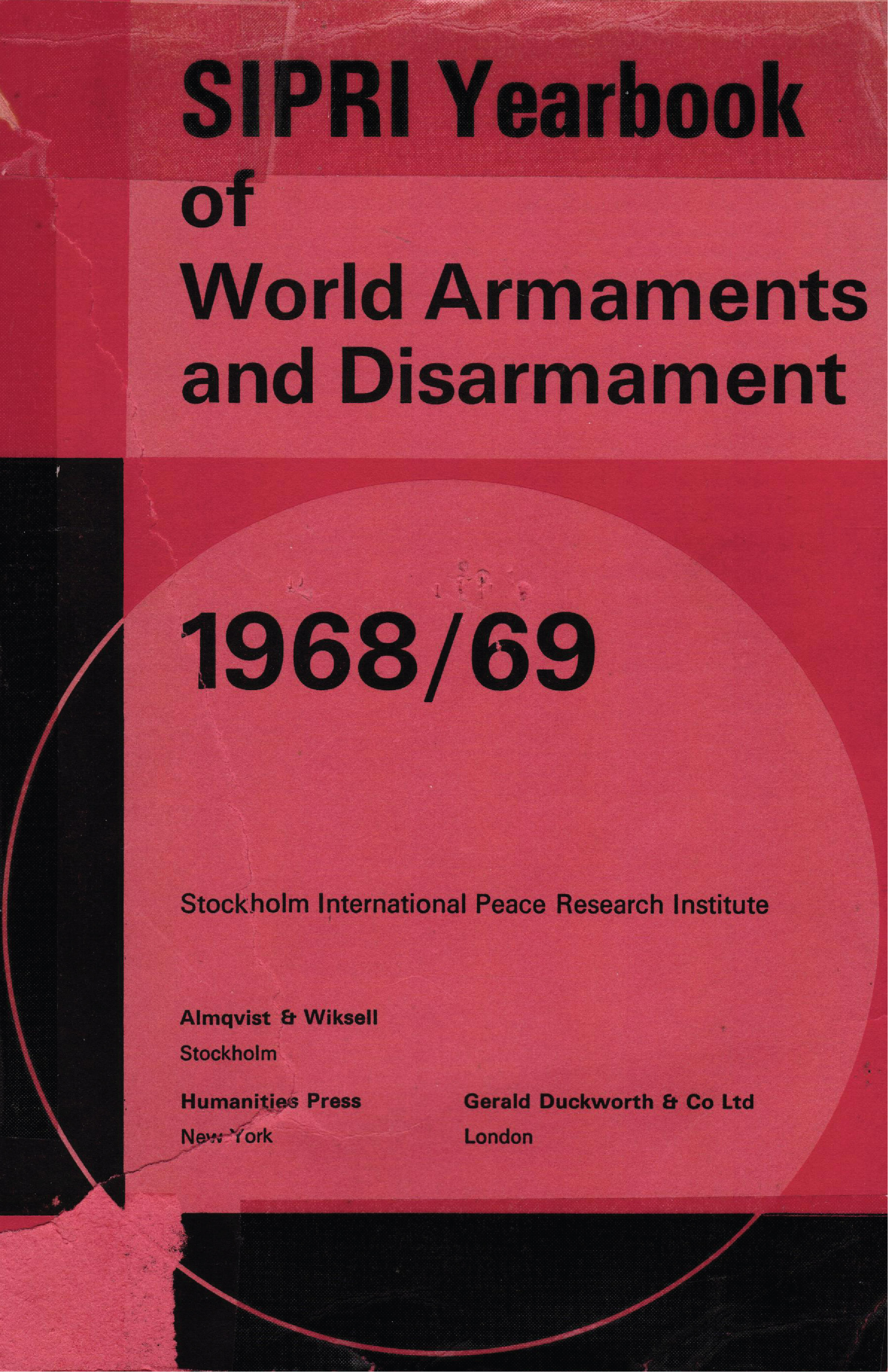 Cover for SIPRI 1969
