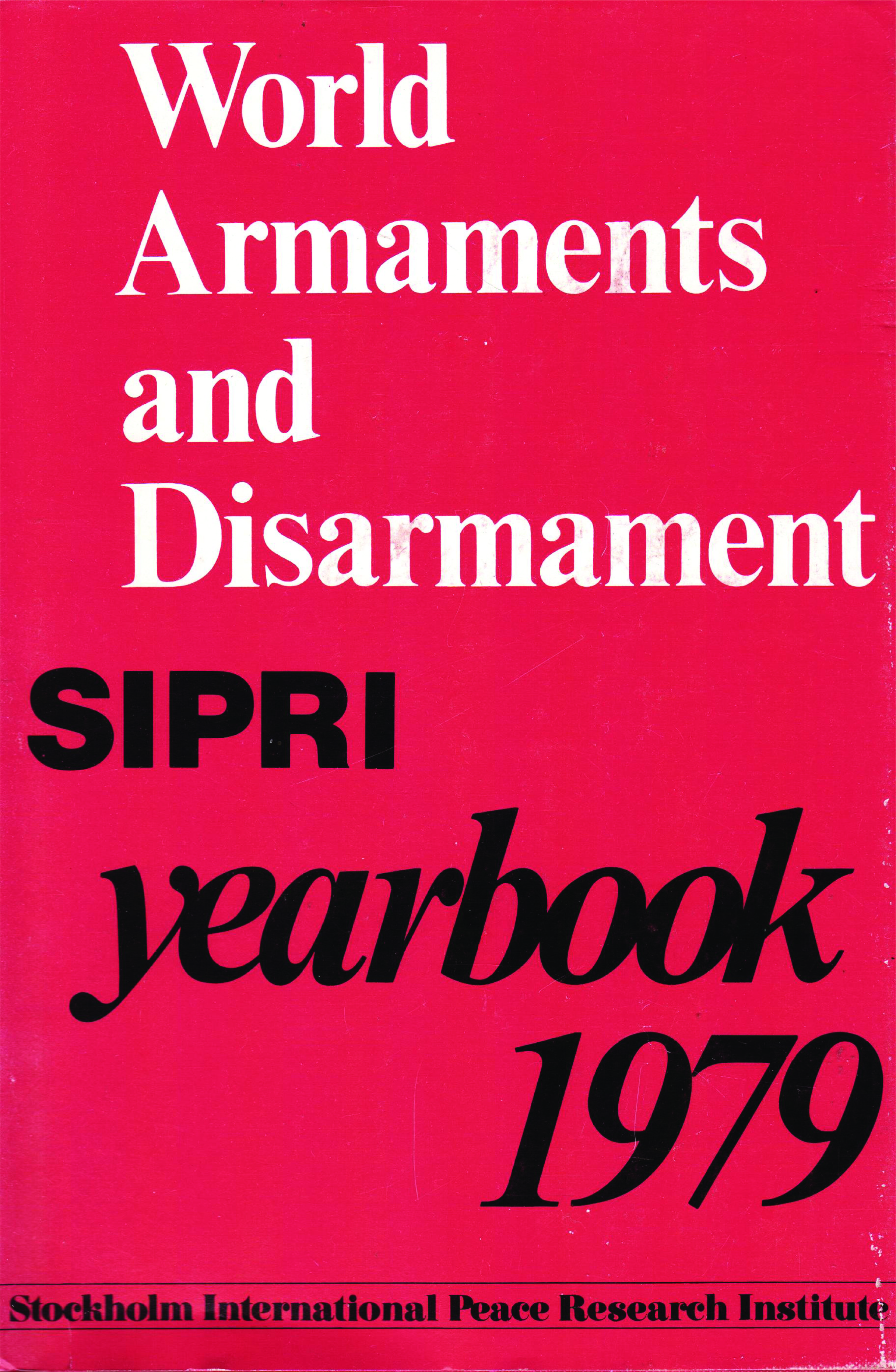 Cover for SIPRI 1979