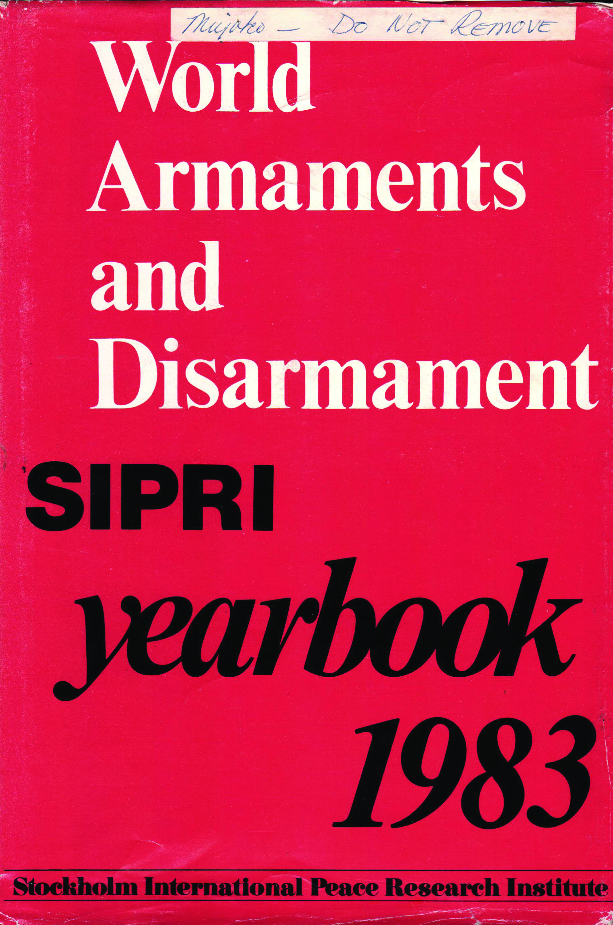 Cover for SIPRI 1983