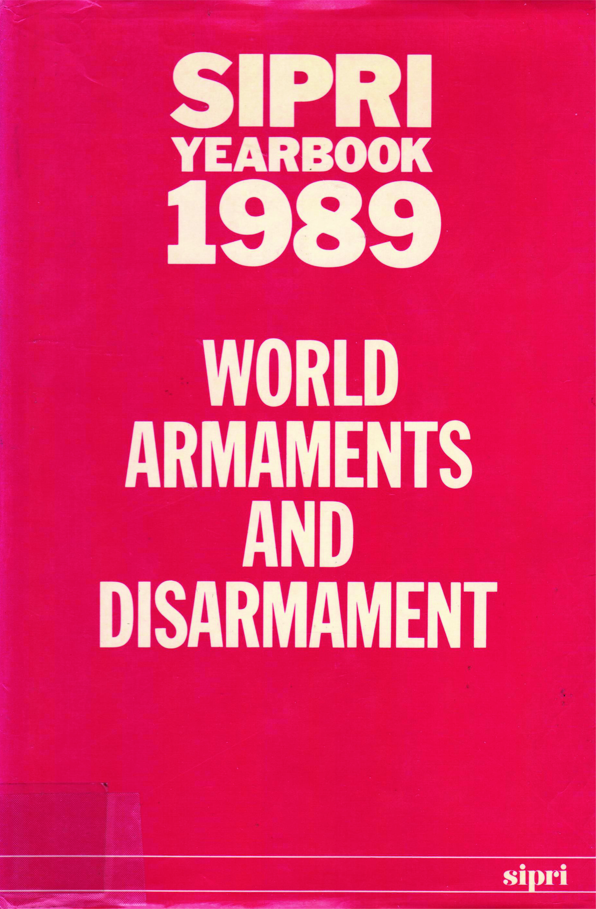 Cover for SIPRI 1989